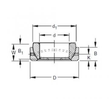 Timken 40SBT64 plain bearings