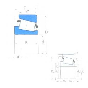 Timken 28580/28521 tapered roller bearings