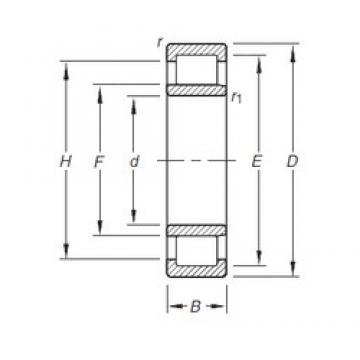 Timken NU204E.TVP cylindrical roller bearings