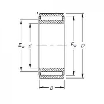 Timken NAO85X115X30 needle roller bearings