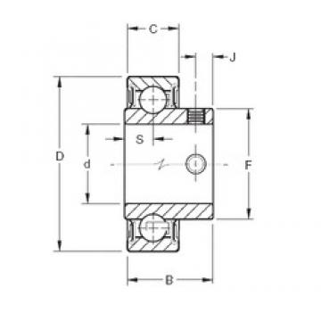 Timken YAE35RR deep groove ball bearings