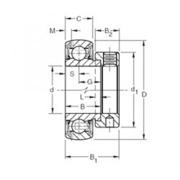 Timken GRAE55RRB deep groove ball bearings