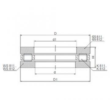 ISO 81108 thrust roller bearings