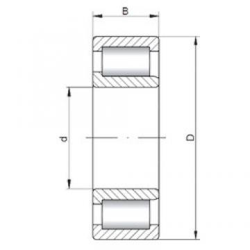 ISO NJF2324 V cylindrical roller bearings