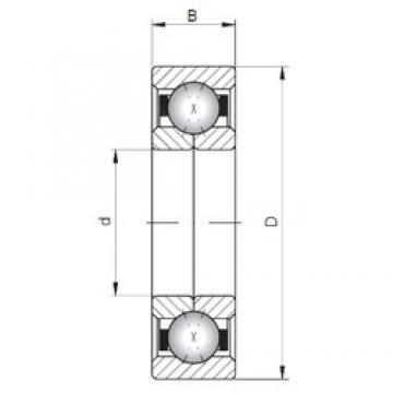 ISO QJ344 angular contact ball bearings