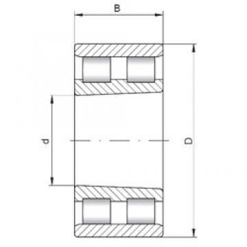 ISO NN3068 K cylindrical roller bearings