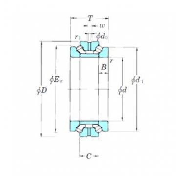 KOYO 239421B thrust ball bearings