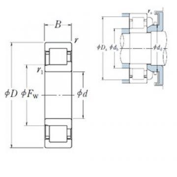 NSK NJ2209 ET cylindrical roller bearings