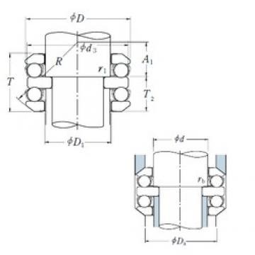 NSK 54208 thrust ball bearings