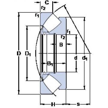 SKF 294/500 EM thrust roller bearings