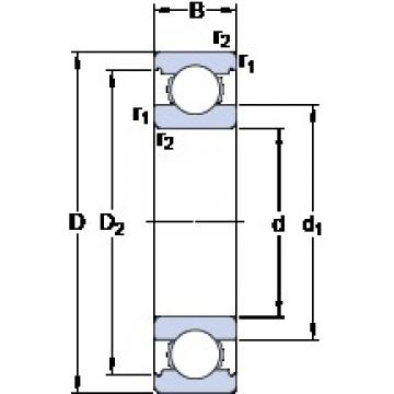 SKF 6211 M deep groove ball bearings