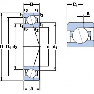 SKF 71904 ACE/P4AH angular contact ball bearings
