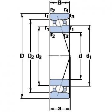 SKF 7018 ACB/HCP4A angular contact ball bearings
