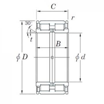 KOYO DC5048N cylindrical roller bearings