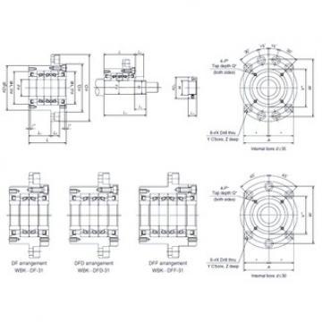 NSK WBK35DFF-31 thrust ball bearings