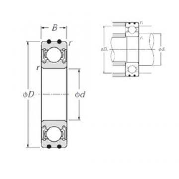 NTN AC-6307LLB deep groove ball bearings