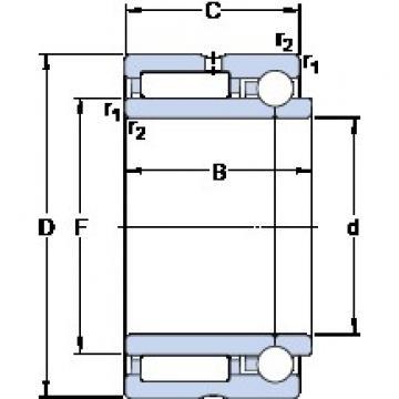 SKF NKIB 5902 cylindrical roller bearings