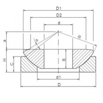 ISO GE160AW plain bearings