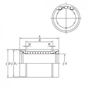 KOYO SESDM12 linear bearings