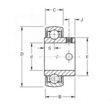 Timken YAE25RRB deep groove ball bearings