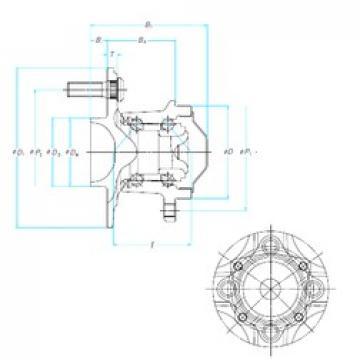NSK 52BWKH01 angular contact ball bearings