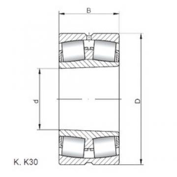 ISO 22252 KW33 spherical roller bearings