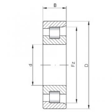 ISO NF214 cylindrical roller bearings