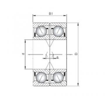 ISO 7208 ADF angular contact ball bearings