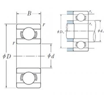 NSK 601 X deep groove ball bearings