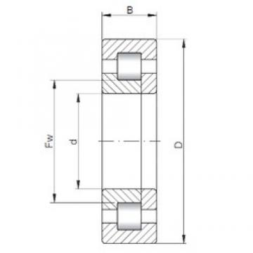 ISO NUP2314 cylindrical roller bearings