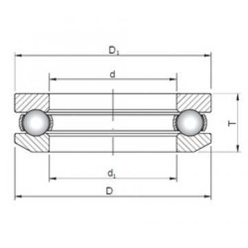 ISO 53208 thrust ball bearings