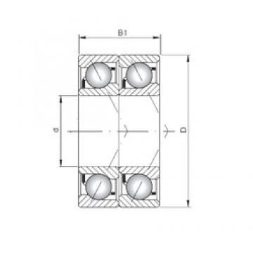 ISO 7076 BDT angular contact ball bearings