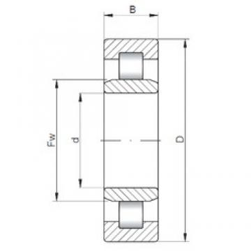 ISO NU3334 cylindrical roller bearings
