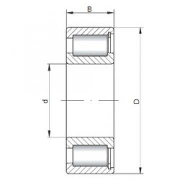 ISO NCF2216 V cylindrical roller bearings
