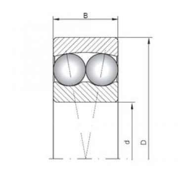ISO 2209 self aligning ball bearings