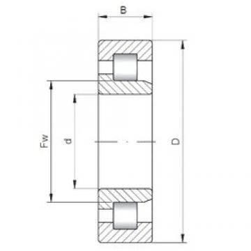 ISO NJ3232 cylindrical roller bearings