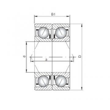 ISO 7412 BDB angular contact ball bearings