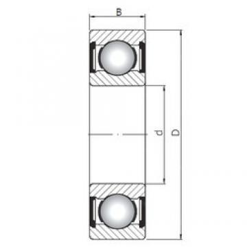 ISO 6028 ZZ deep groove ball bearings