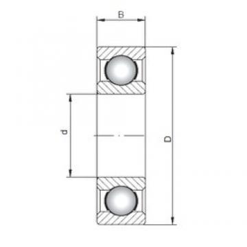 ISO 6016 deep groove ball bearings
