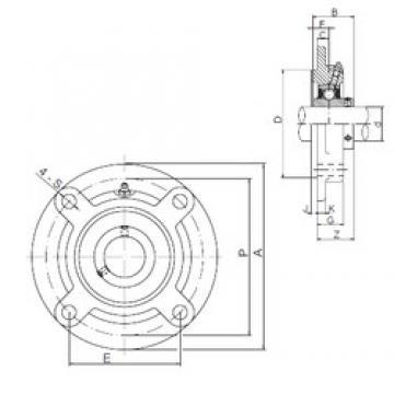 ISO UCFCX08 bearing units