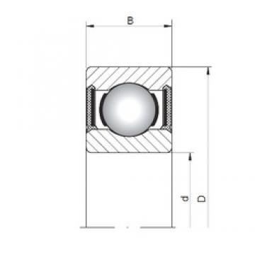 ISO 617/8-2RS deep groove ball bearings
