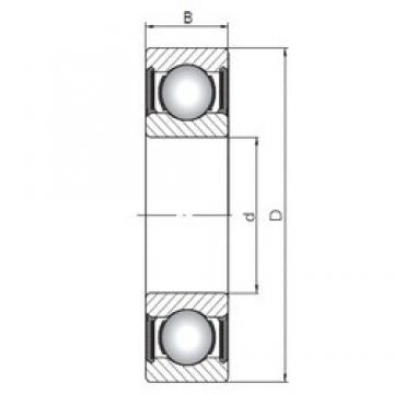 ISO 6212-2RS deep groove ball bearings