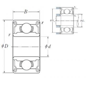 ISO 627ZZ deep groove ball bearings