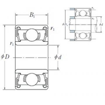 NSK 686 A DD deep groove ball bearings