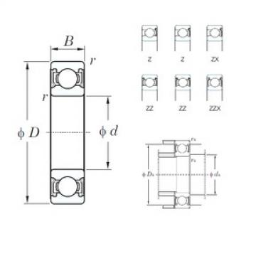 KOYO 6822Z deep groove ball bearings