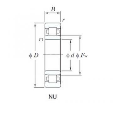 KOYO NU314R cylindrical roller bearings
