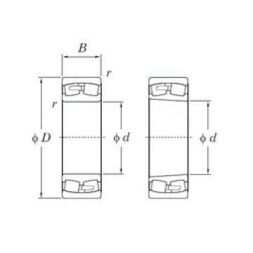 KOYO 24160RK30 spherical roller bearings