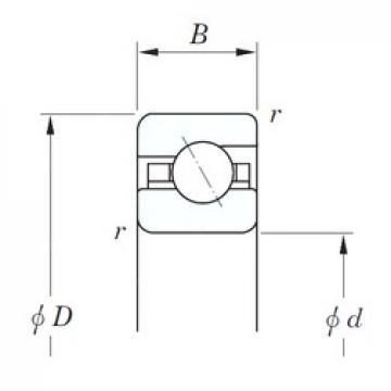 KOYO KDA055 angular contact ball bearings