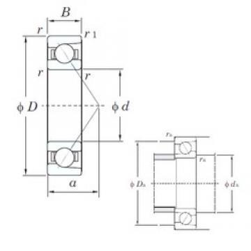 KOYO 7217 angular contact ball bearings