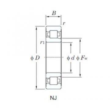 KOYO NJ2314R cylindrical roller bearings